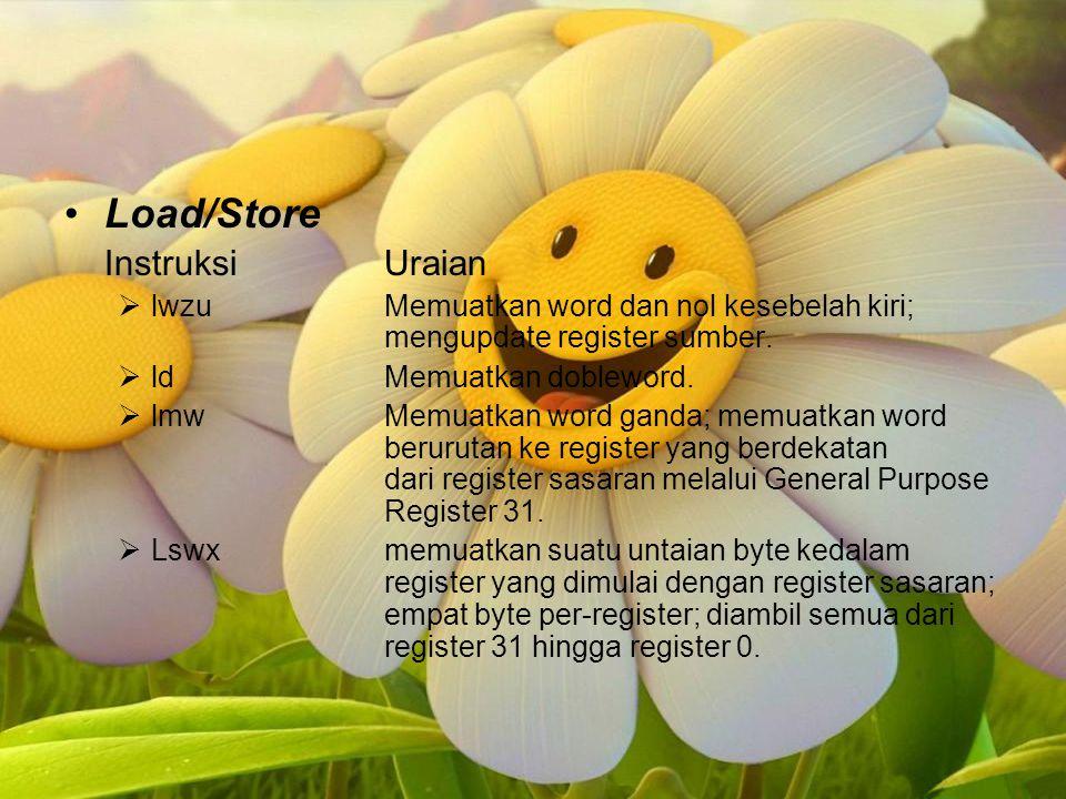 Load/Store Instruksi Uraian
