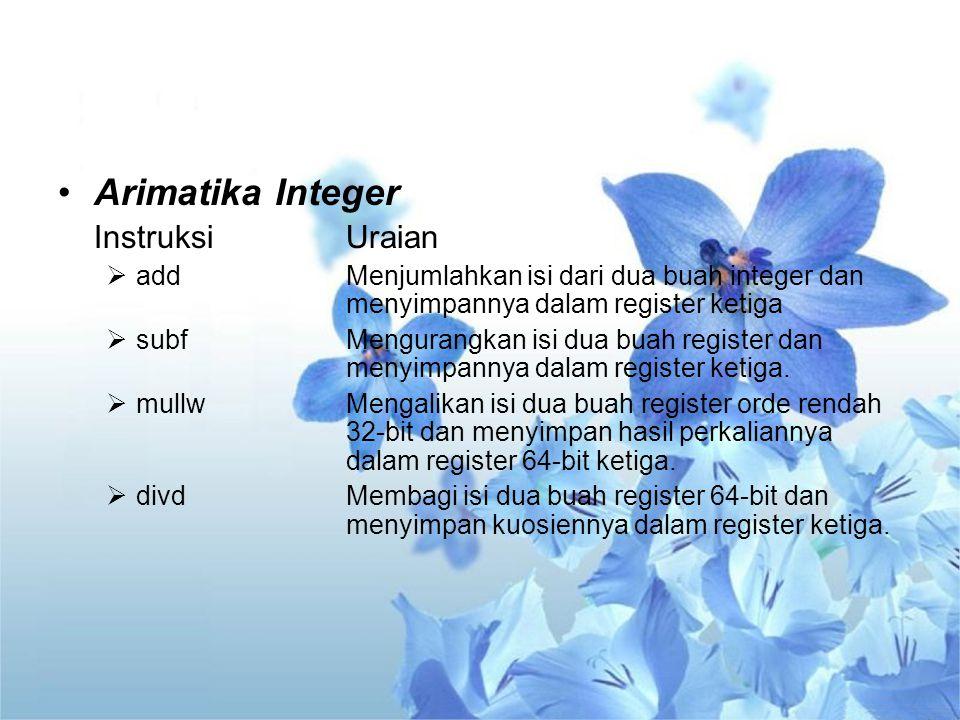 Arimatika Integer Instruksi Uraian