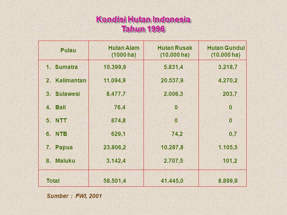 Kondisi Hutan Indonesia