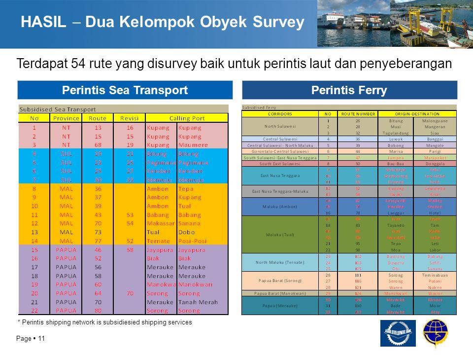 HASIL  Dua Kelompok Obyek Survey