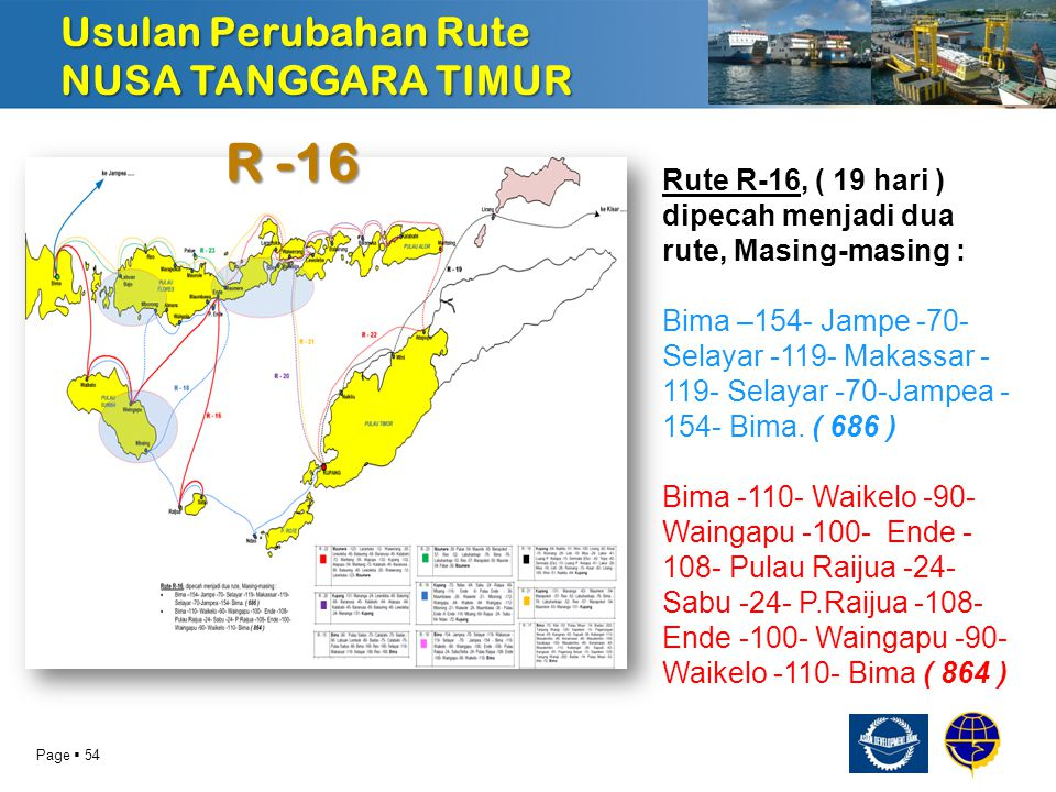 R -16 Usulan Perubahan Rute NUSA TANGGARA TIMUR