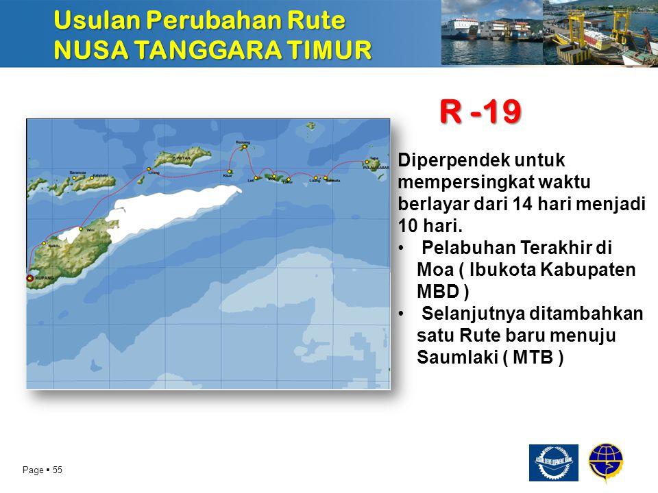 R -19 Usulan Perubahan Rute NUSA TANGGARA TIMUR