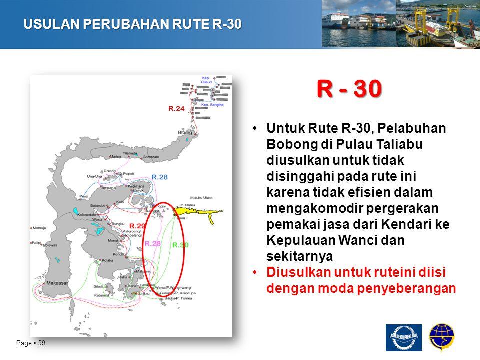 R - 30 USULAN PERUBAHAN RUTE R-30