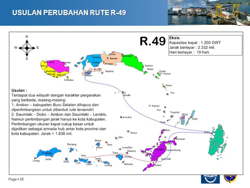 USULAN PERUBAHAN RUTE R-49
