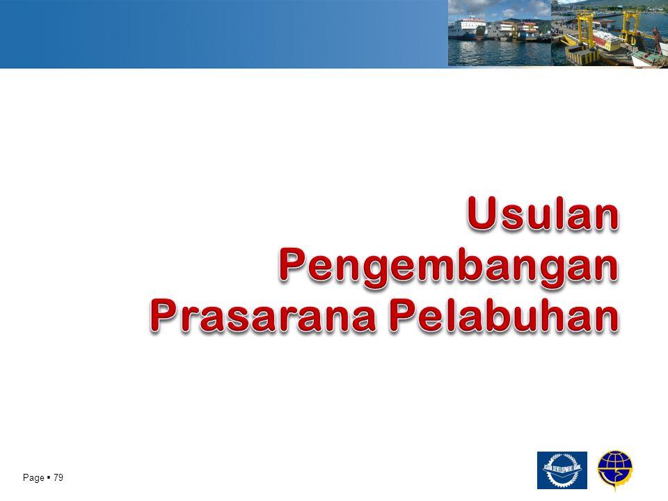 Usulan Pengembangan Prasarana Pelabuhan