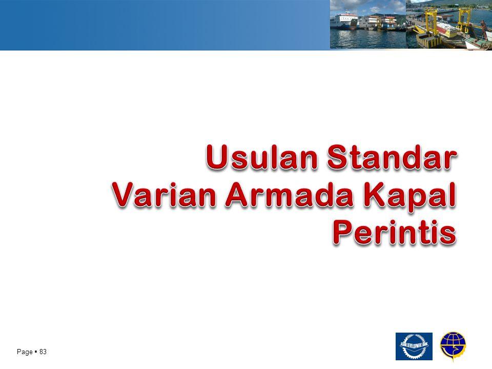 Usulan Standar Varian Armada Kapal Perintis