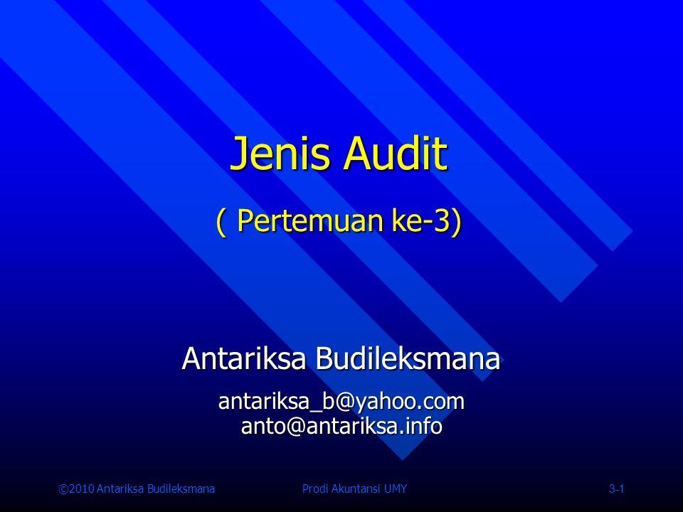 Jenis Audit ( Pertemuan ke-3)