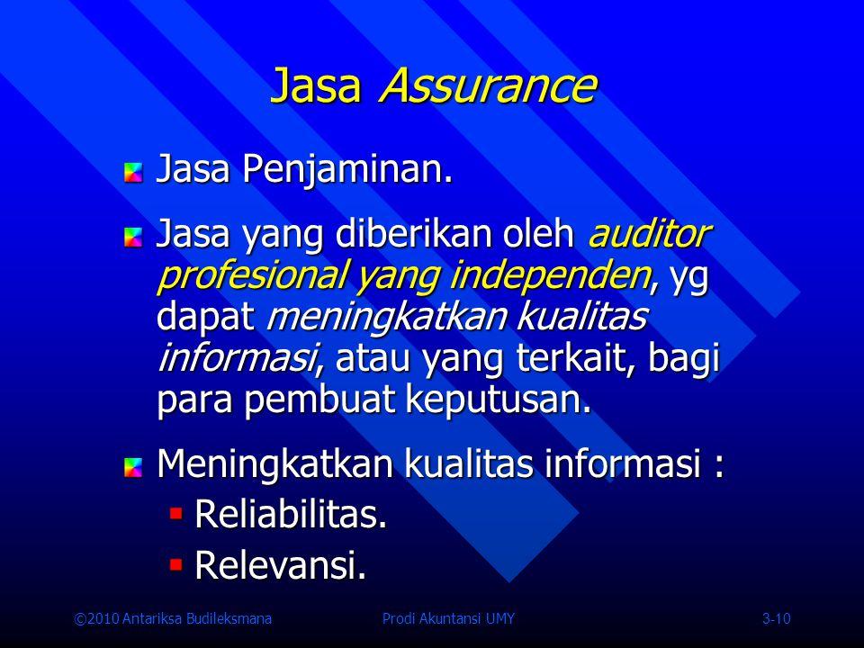 Jasa Assurance Jasa Penjaminan.