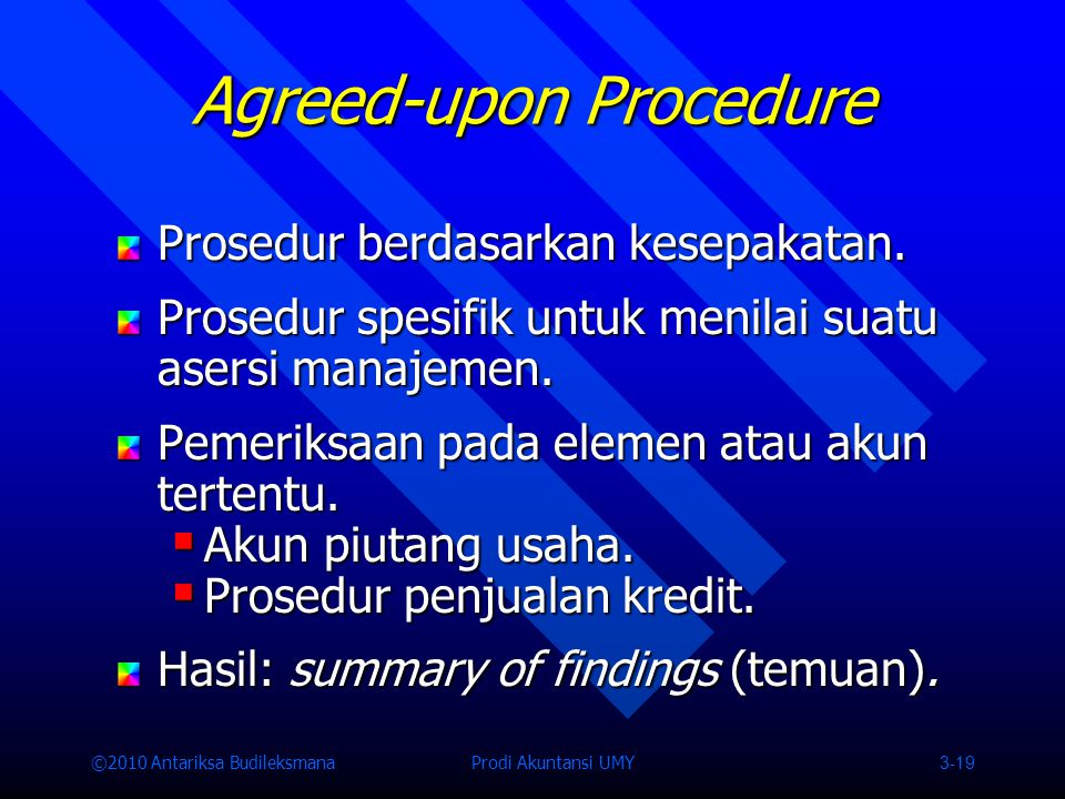 Agreed-upon Procedure