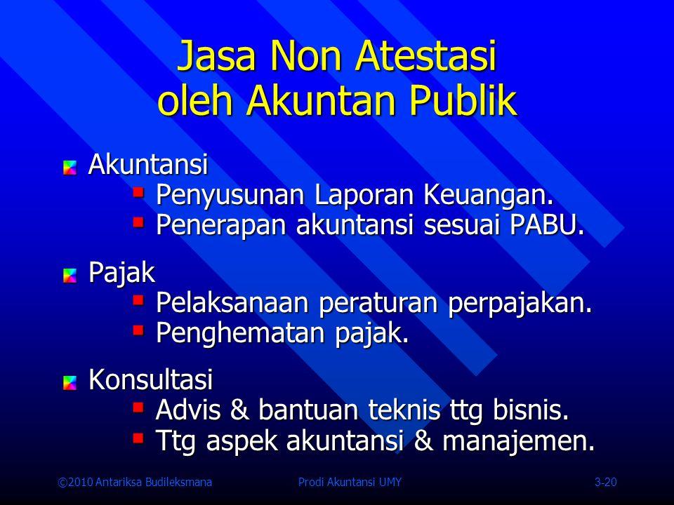 Jasa Non Atestasi oleh Akuntan Publik