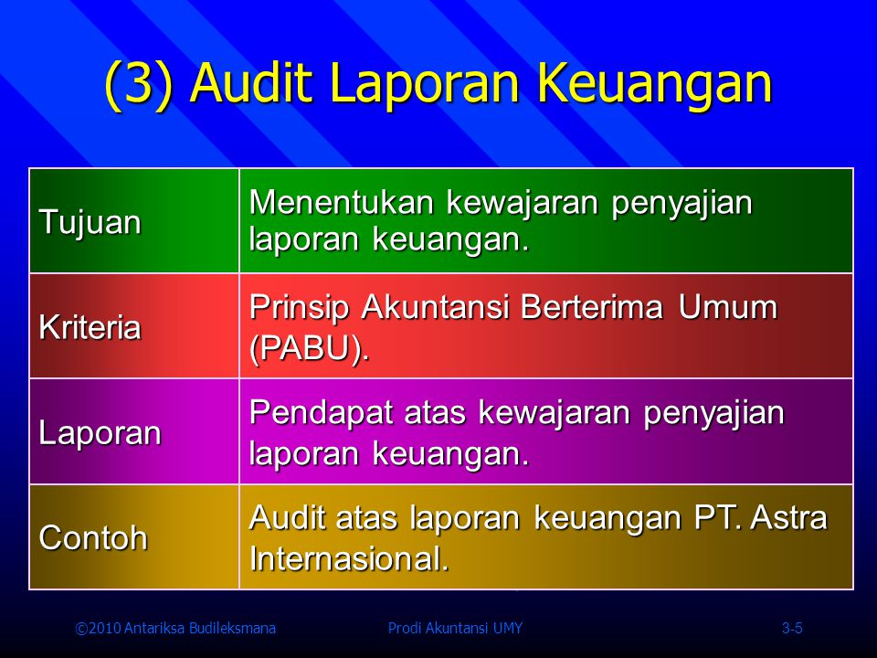 (3) Audit Laporan Keuangan