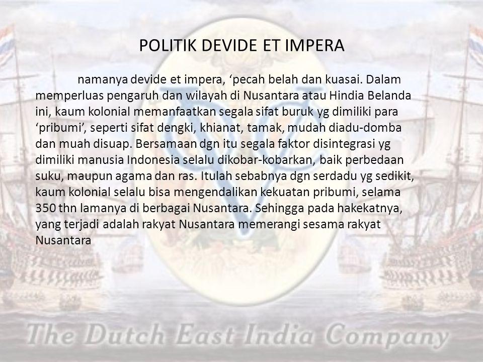 POLITIK DEVIDE ET IMPERA