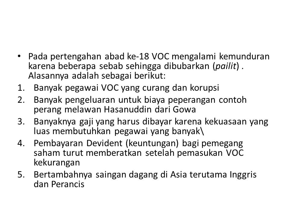 Runtuhnya VOC