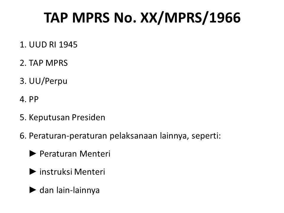 TAP MPRS No. XX/MPRS/1966