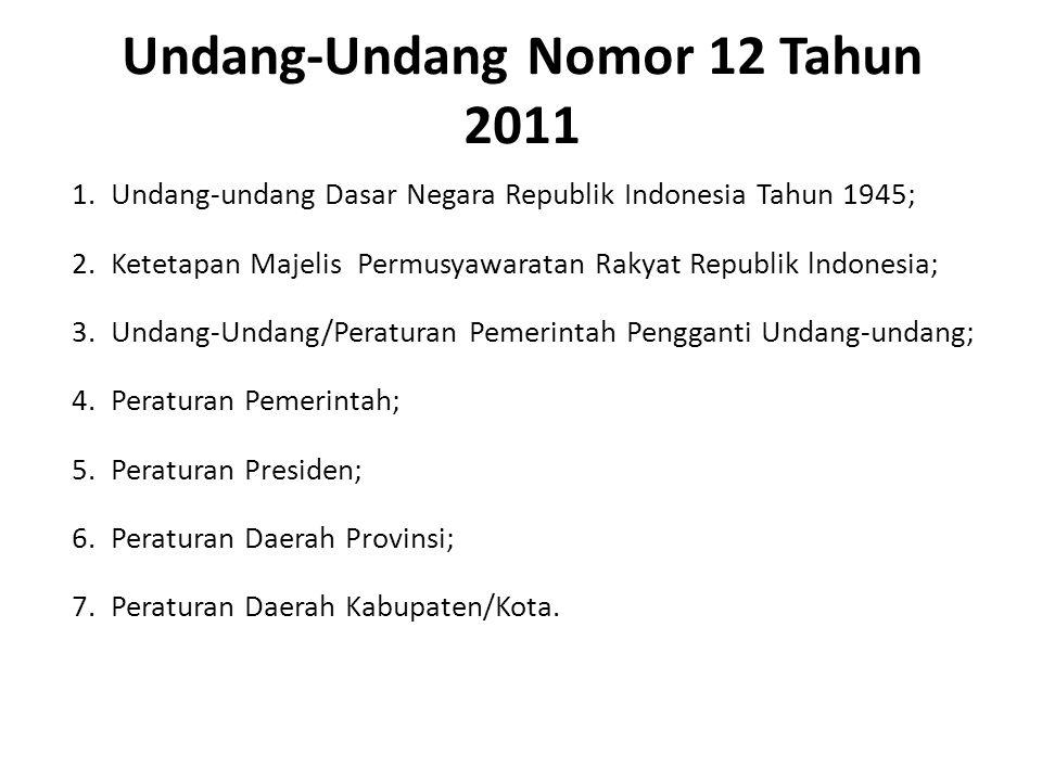 Undang-Undang Nomor 12 Tahun 2011