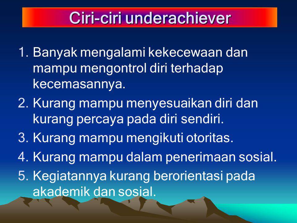 Ciri-ciri underachiever