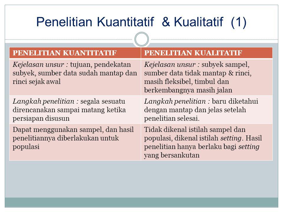 Penelitian Kuantitatif & Kualitatif (1)