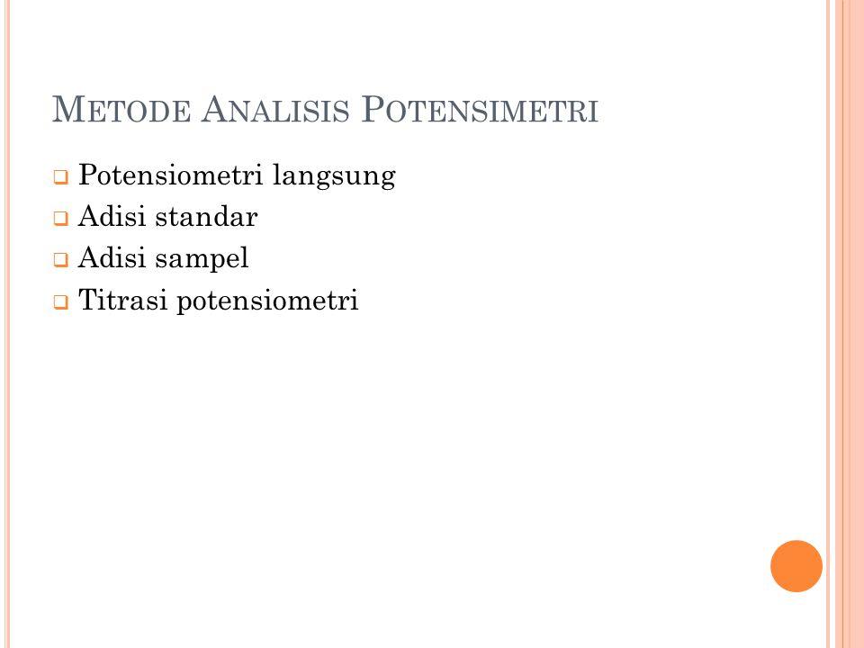Metode Analisis Potensimetri