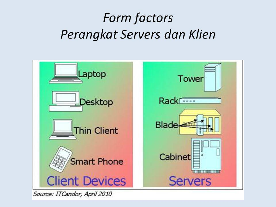 Form factors Perangkat Servers dan Klien