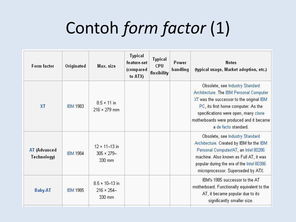 Contoh form factor (1)