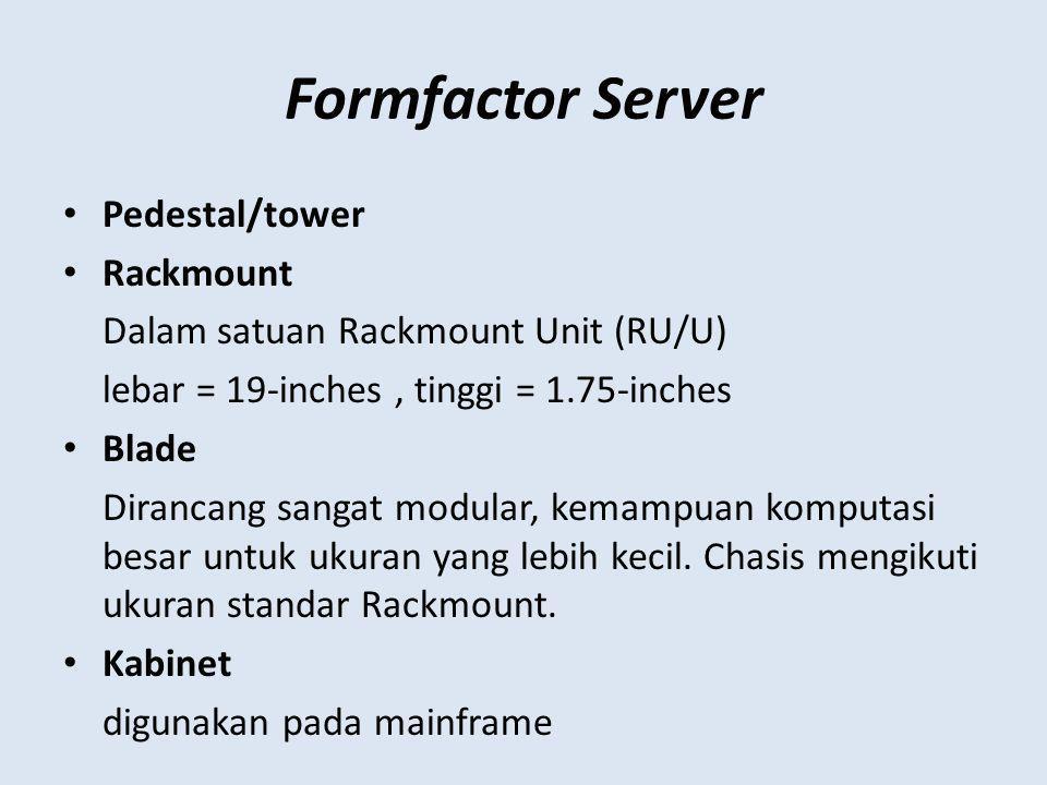 Formfactor Server Pedestal/tower Rackmount