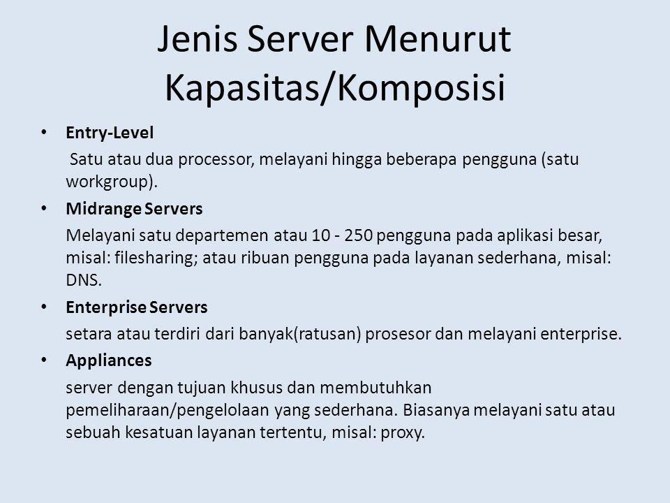 Jenis Server Menurut Kapasitas/Komposisi