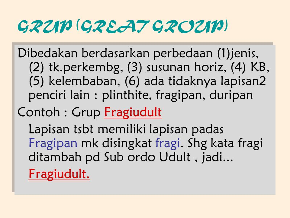 GRUP (GREAT GROUP)