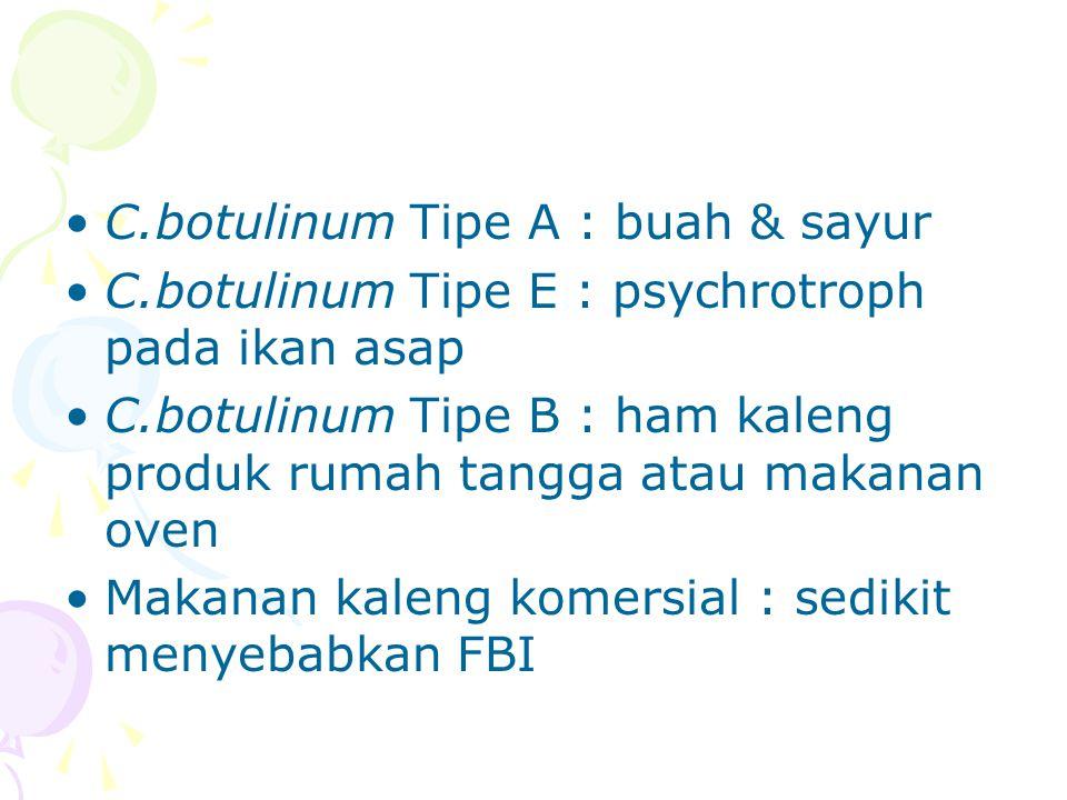 C.botulinum Tipe A : buah & sayur
