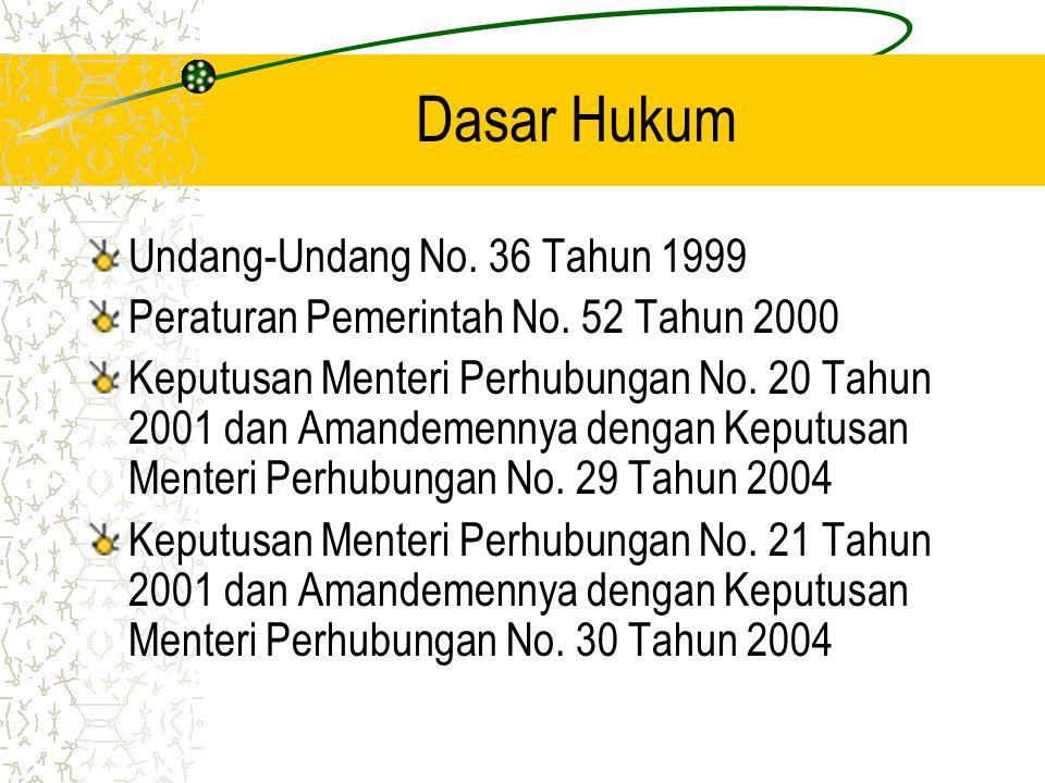 Dasar Hukum Undang-Undang No. 36 Tahun 1999
