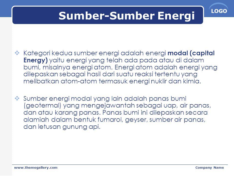 Sumber-Sumber Energi