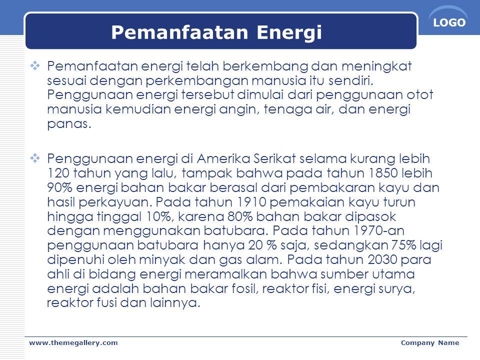 Pemanfaatan Energi
