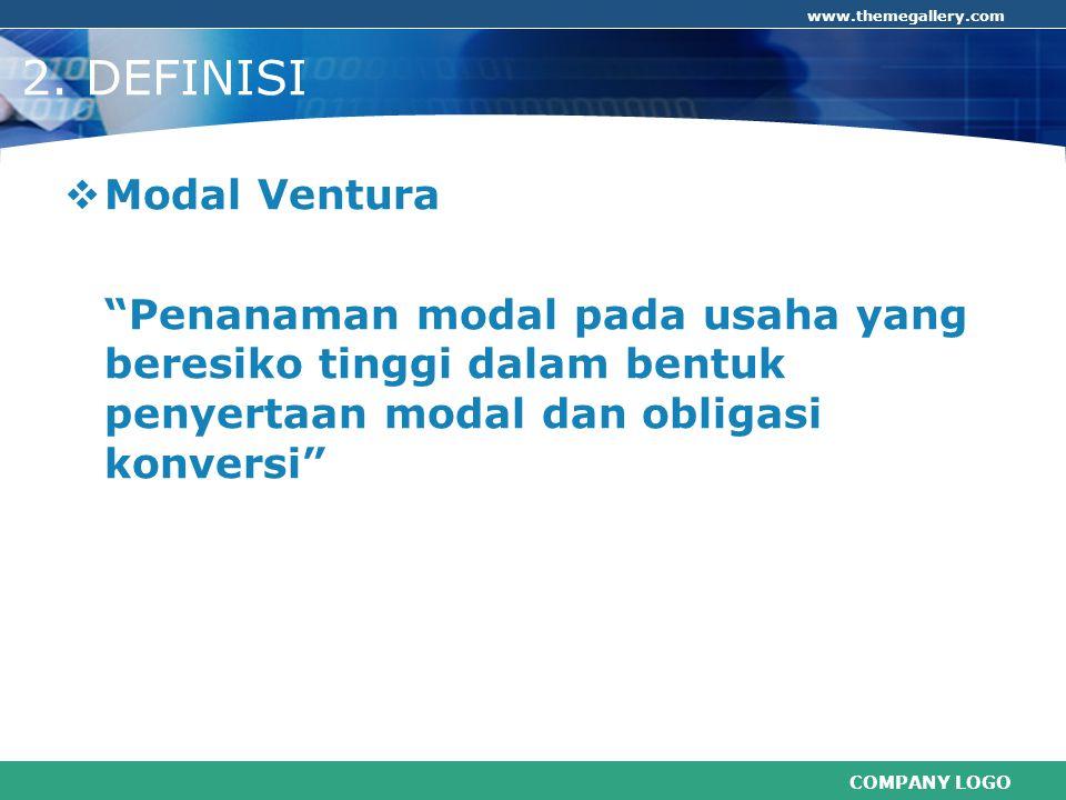 2. DEFINISI Modal Ventura