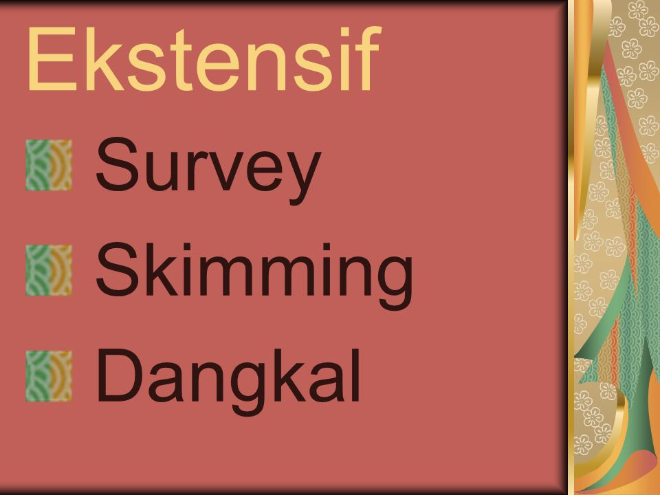 Ekstensif Survey Skimming Dangkal