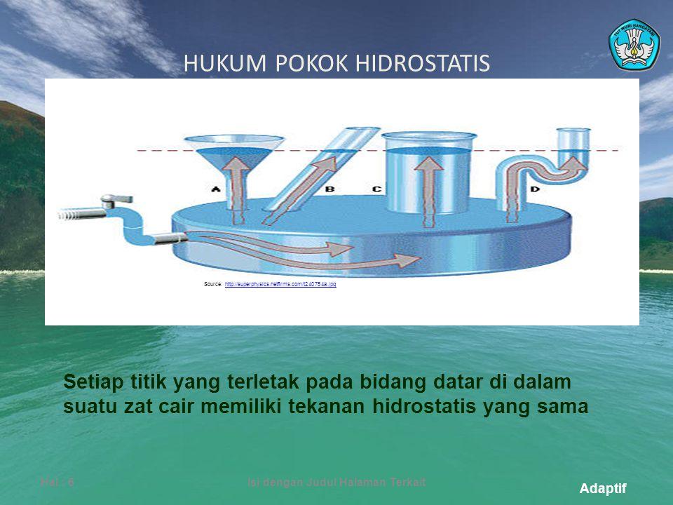 HUKUM POKOK HIDROSTATIS