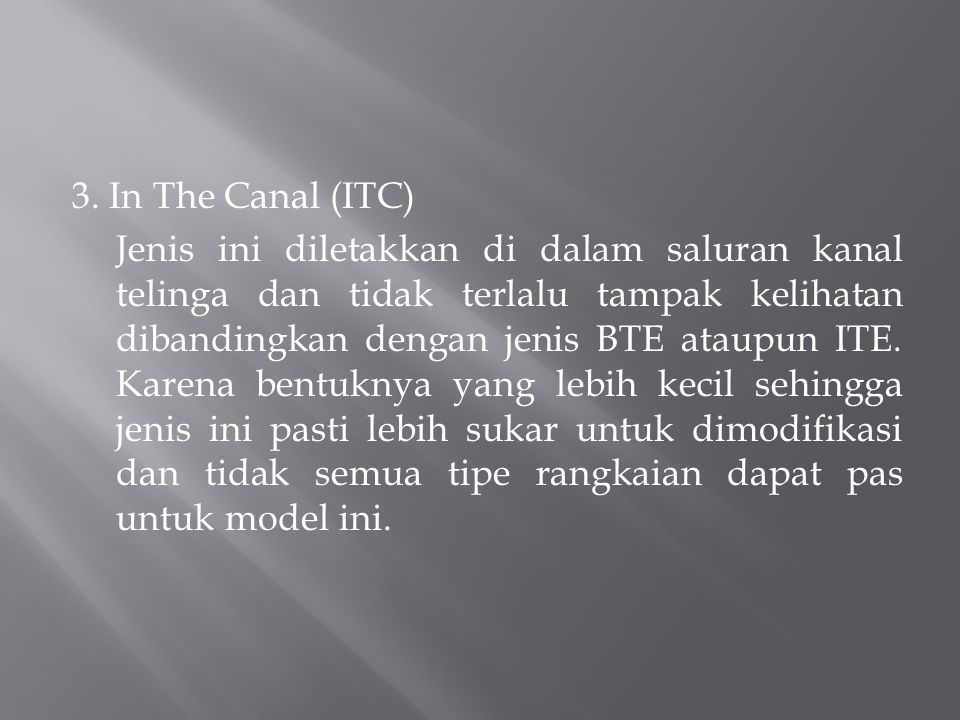 3. In The Canal (ITC)