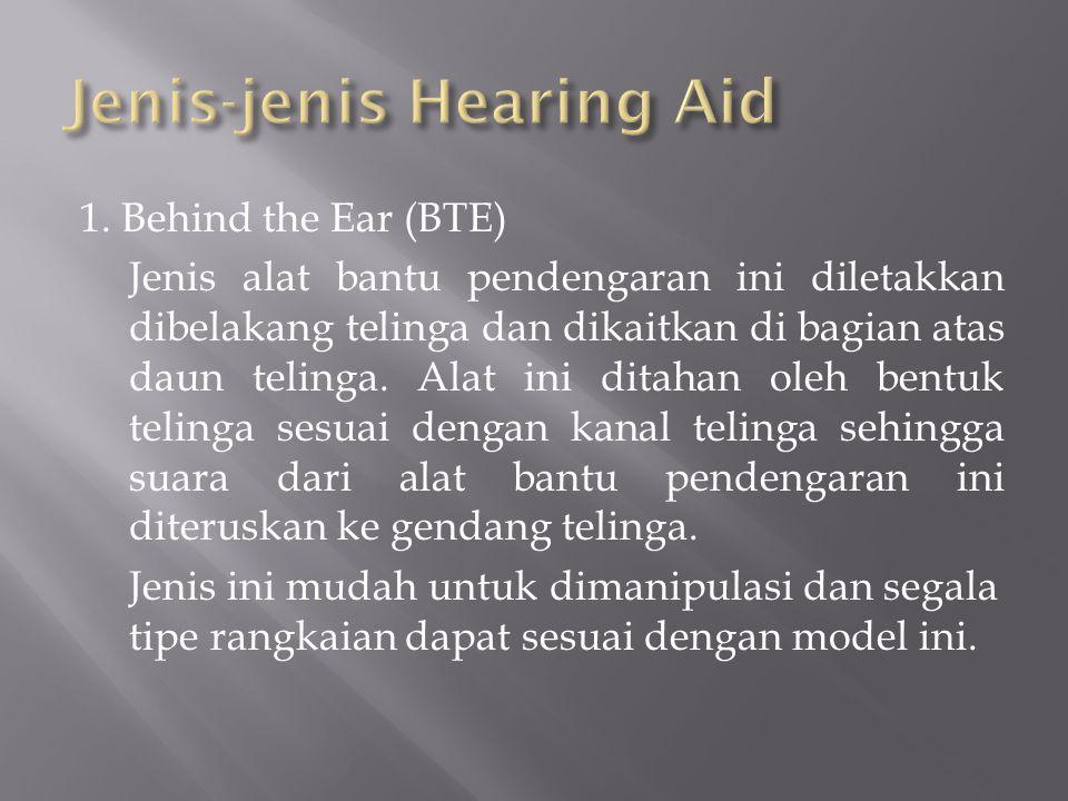 Jenis-jenis Hearing Aid