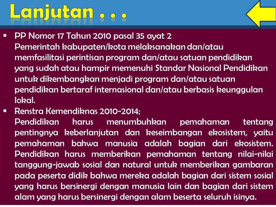 Lanjutan . . . PP Nomor 17 Tahun 2010 pasal 35 ayat 2