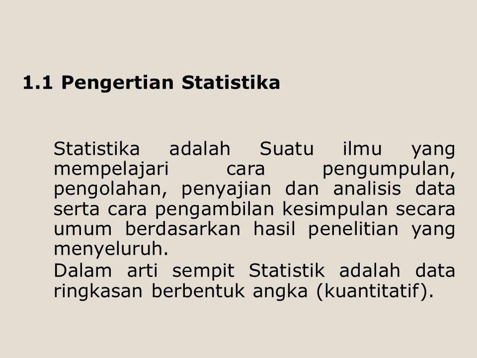 1.1 Pengertian Statistika