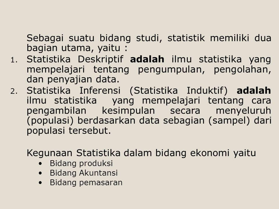 Kegunaan Statistika dalam bidang ekonomi yaitu