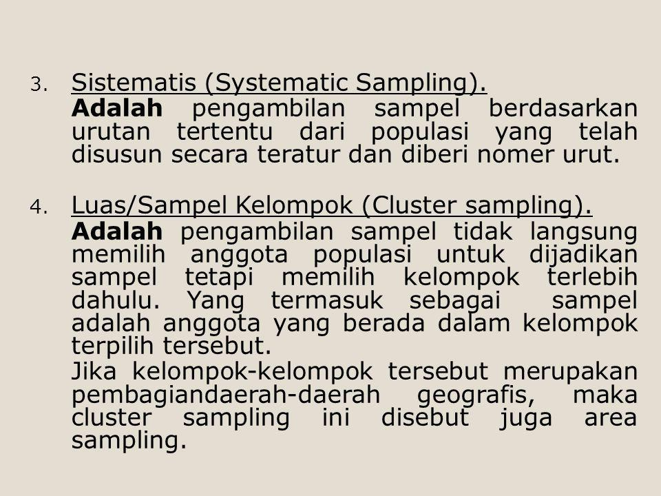 Sistematis (Systematic Sampling).