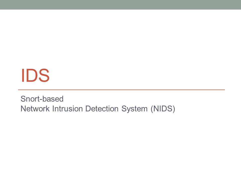Snort-based Network Intrusion Detection System (NIDS)