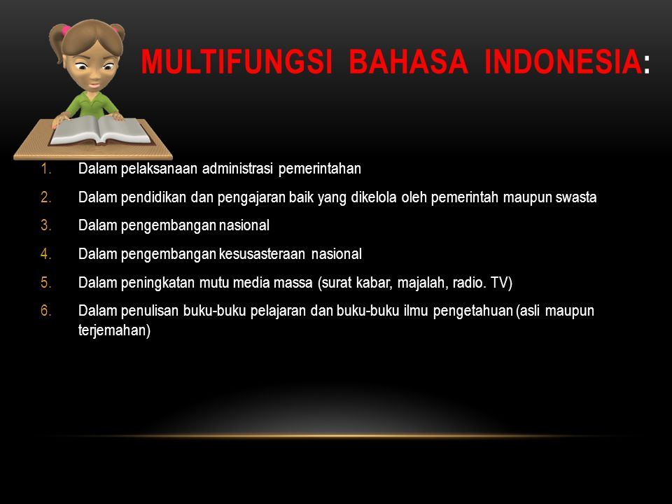 MULTIFUNGSI BAHASA INDONESIA: