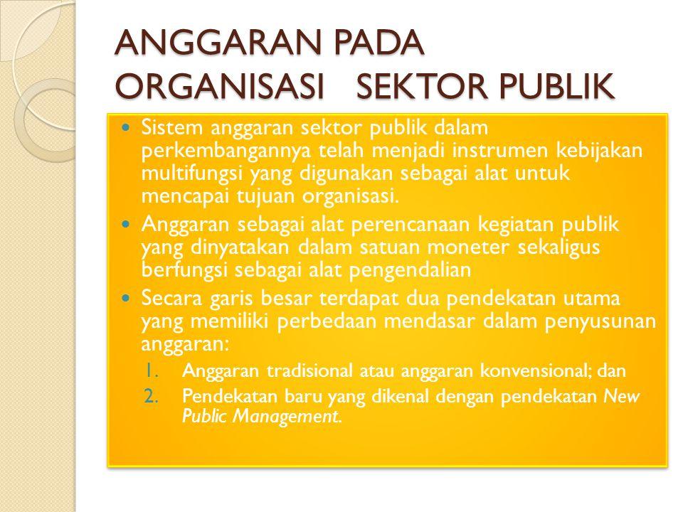 jenis anggaran sektor publik Jenis anggaran sektor publik by wiwin juli sistem anggaran sektor publik dalam perkembangannya telah menjadi instrumen kebijakan multi-fungsi yang digunakan sebagai alat untuk mencapai tujuan organisasi.