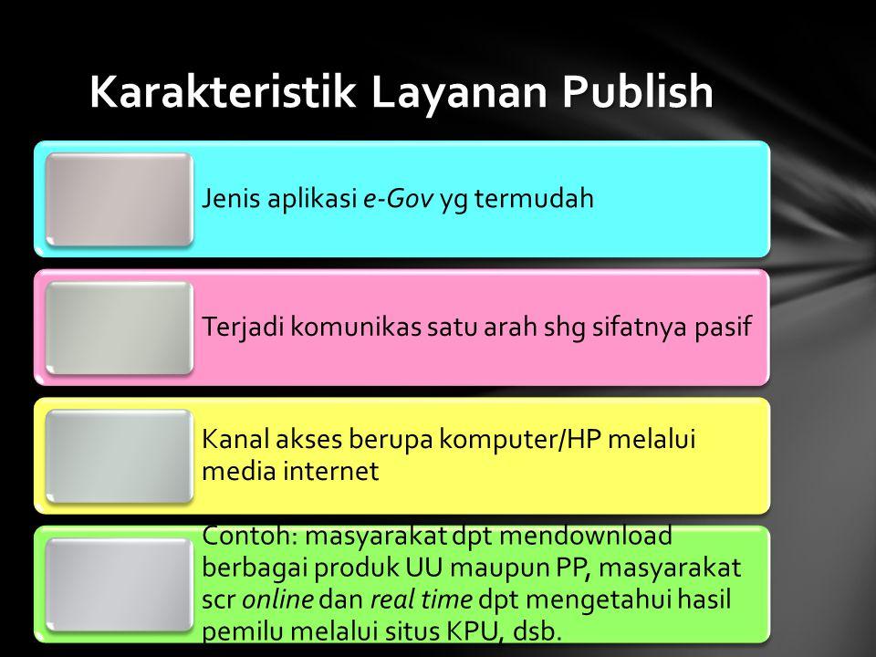 Karakteristik Layanan Publish