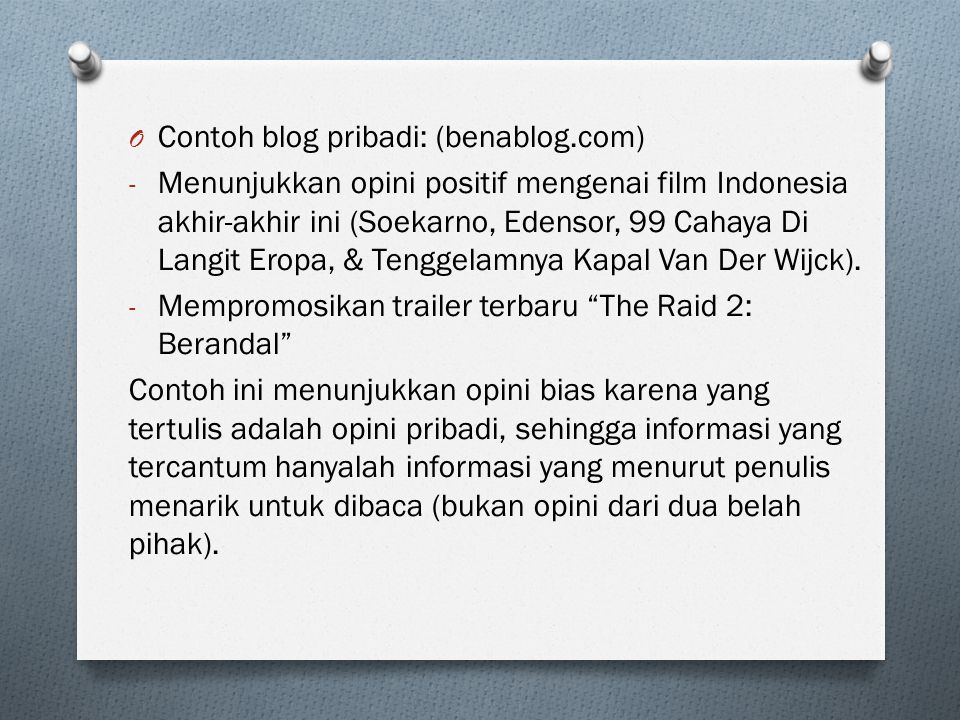 Contoh blog pribadi: (benablog.com)