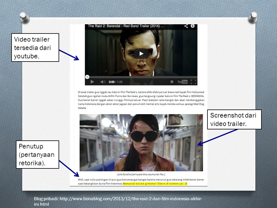 Video trailer tersedia dari youtube.