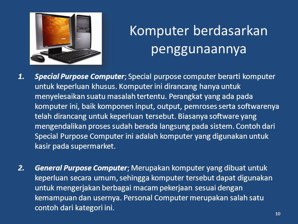 Komputer berdasarkan penggunaannya