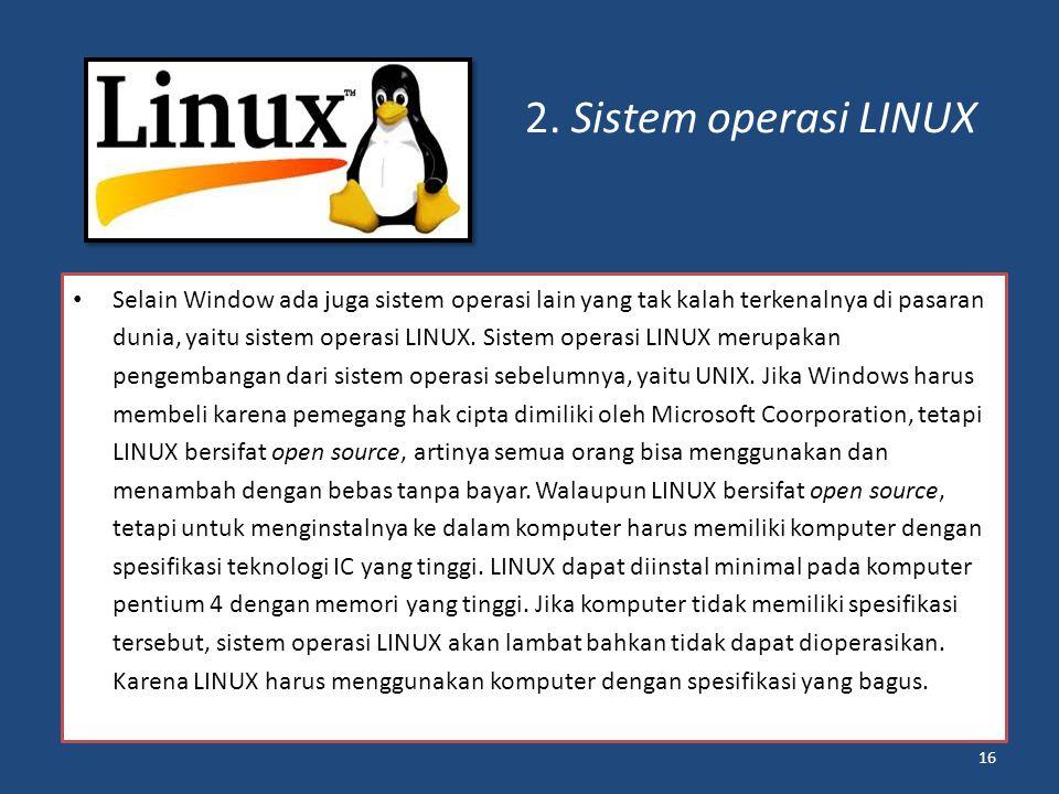 2. Sistem operasi LINUX