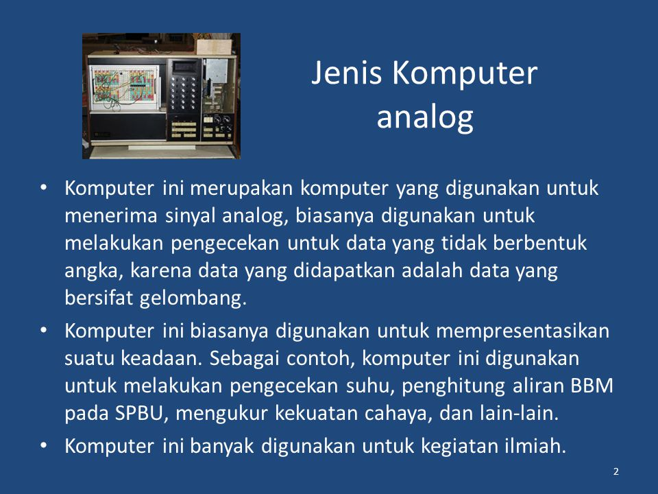 Jenis Komputer analog