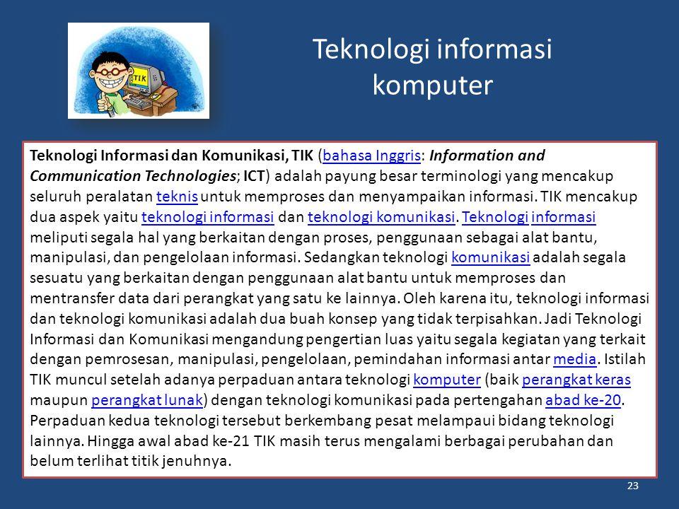 Teknologi informasi komputer